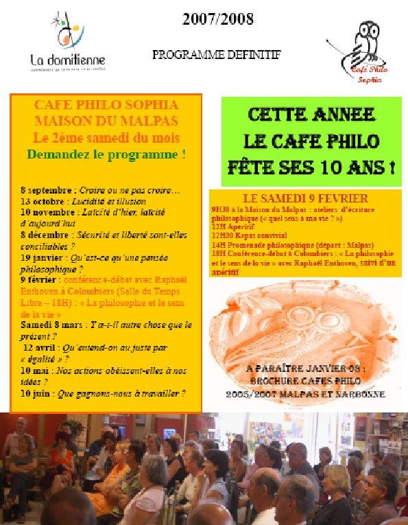 Cafe Philo  Novembre